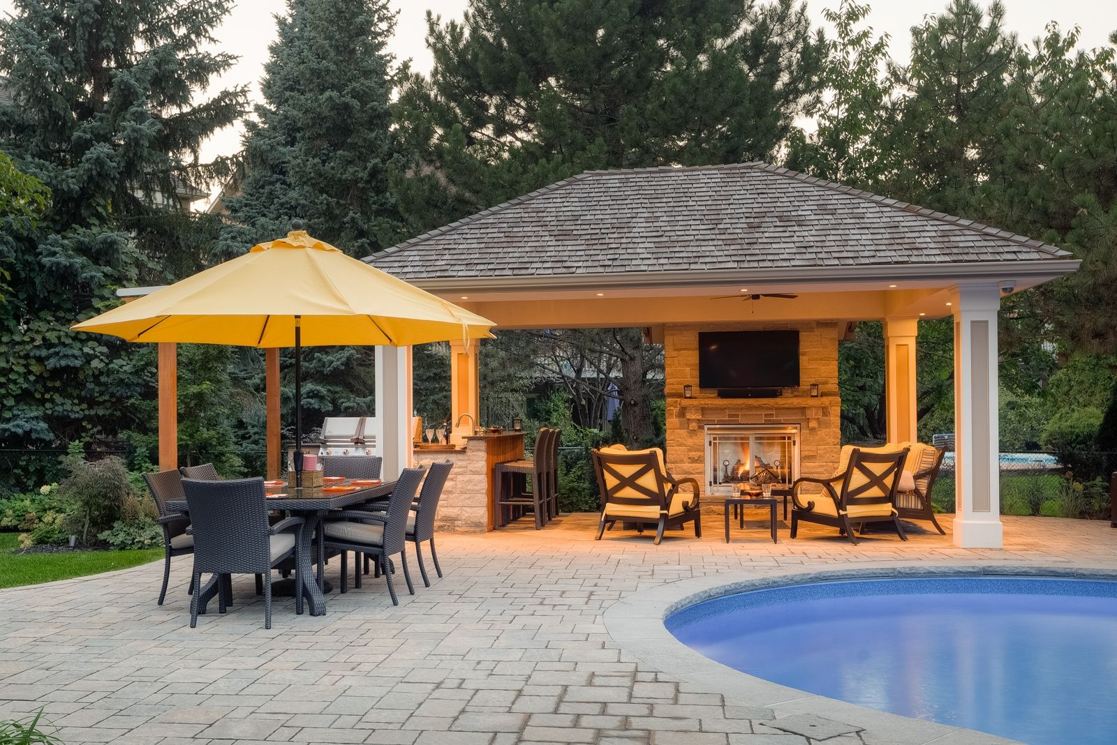 Pool Houses And Cabanas Landscape Design Build Cabanas And Pool pertaining to Backyard Cabana Ideas