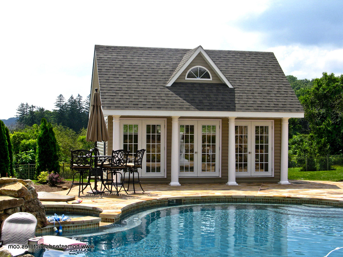 Pool Houses For Sale Pa Nj Ny Free Quote Homestead Structures pertaining to Backyard Pool House Ideas