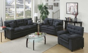 Poundex 3 Piece Bobkona Colona Ash Living Room Set At Lowes pertaining to 14 Smart Initiatives of How to Build 3 Piece Living Room Set
