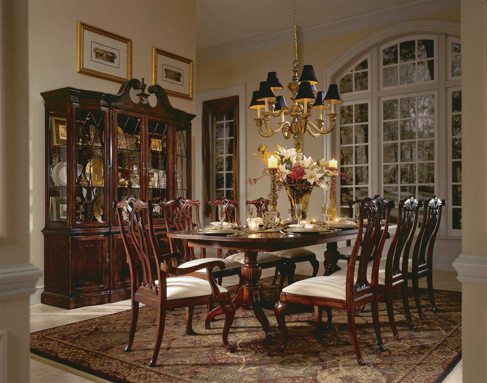 Queen Anne Dining Set In Dining Rooms Outlet with Queen Anne Living Room Sets