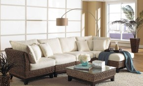 Rattan Sectional Sofas And Theater Seating Furniture Indoor And pertaining to 14 Awesome Concepts of How to Build Rattan Living Room Set
