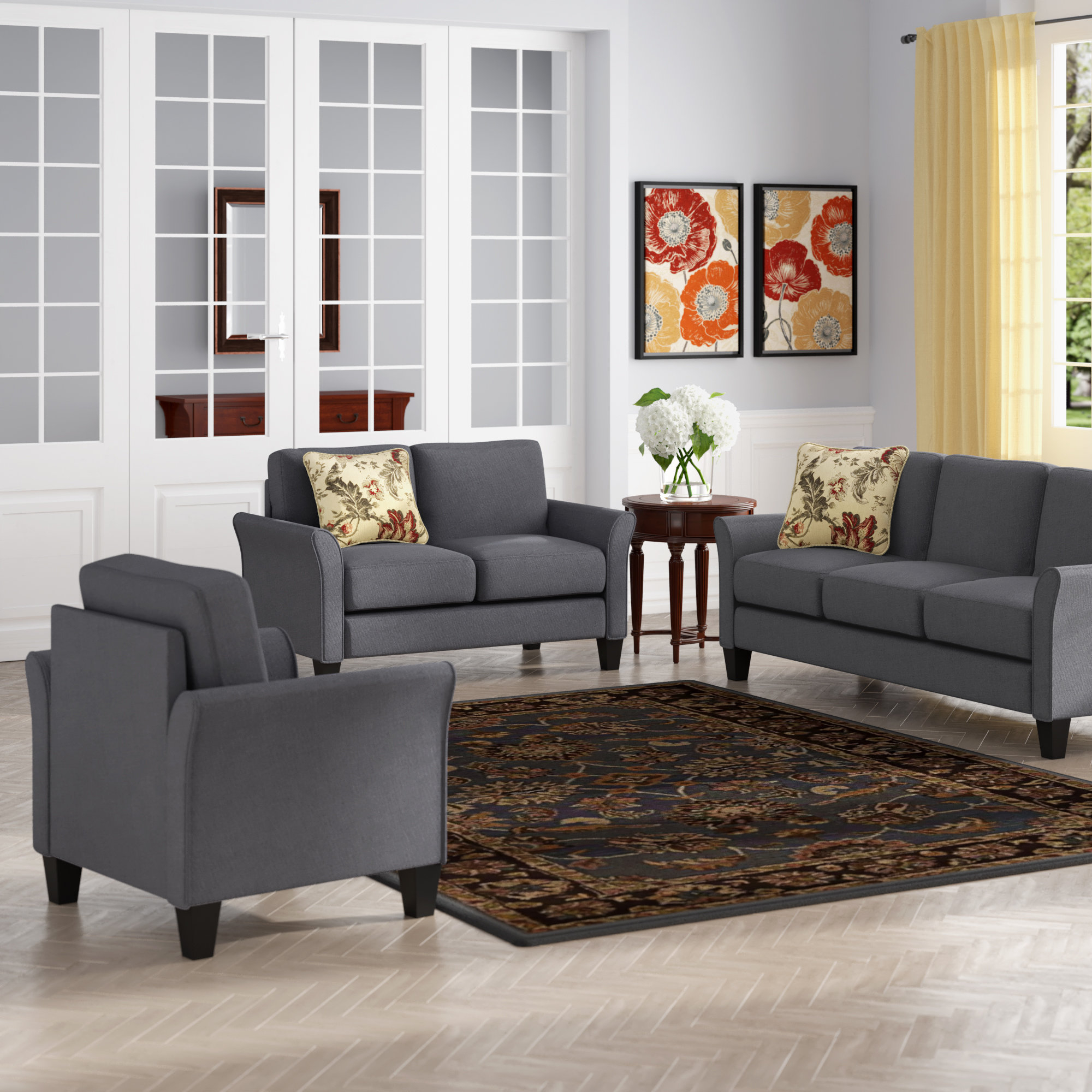 Red Barrel Studio Galvez 3 Piece Living Room Set Reviews Wayfair throughout 11 Some of the Coolest Ideas How to Craft Living Room Sets For Cheap