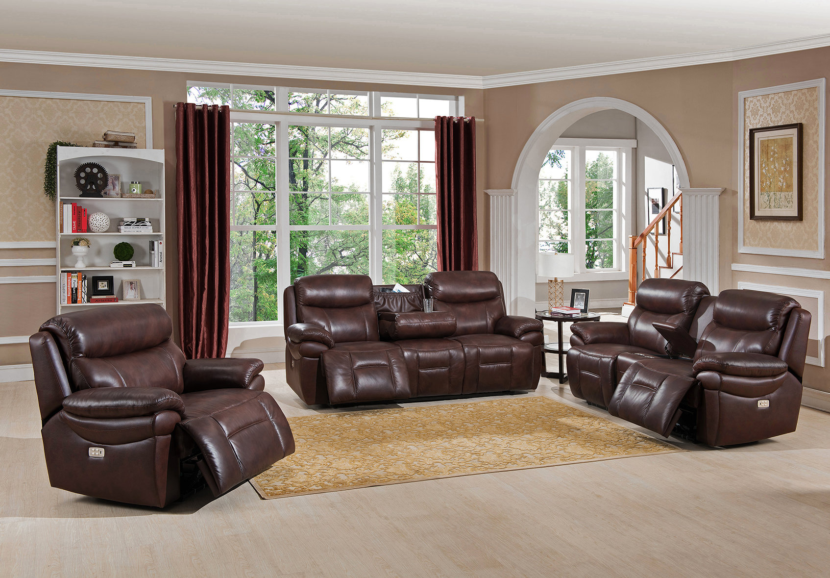 Red Barrel Studio Kubik Reclining 3 Piece Leather Living Room Set pertaining to 13 Awesome Ways How to Improve 3 Piece Leather Reclining Living Room Set