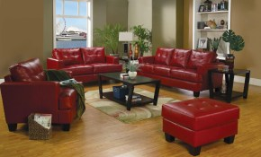 Samuel Red Leather Living Room Set 501831 From Coaster 501831 intended for 11 Some of the Coolest Initiatives of How to Improve Red Leather Living Room Set