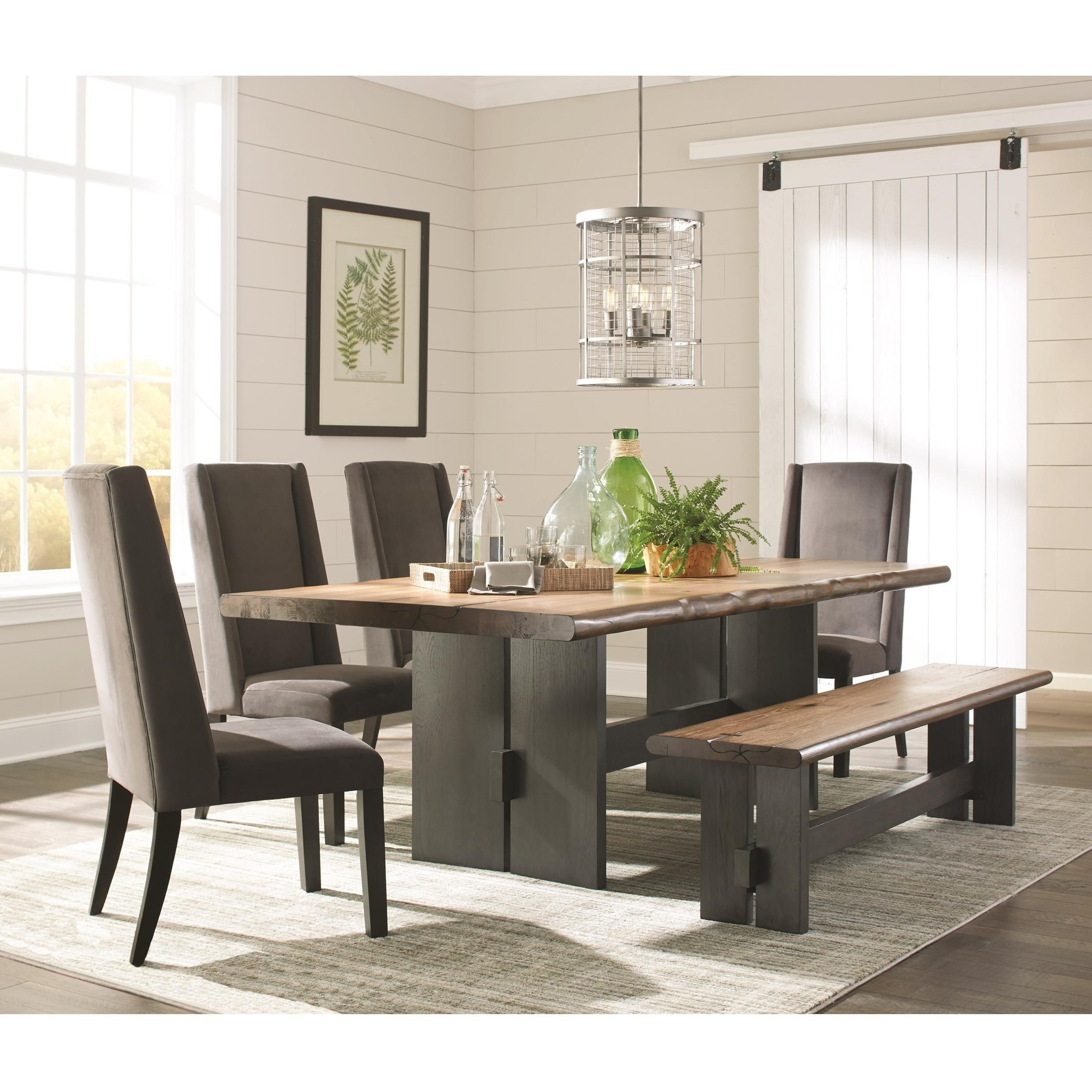 Scott Living Marquette Live Edge Dining Table Set With Bench Value within 13 Smart Tricks of How to Upgrade Live Room Set
