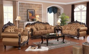 Sharon 3 Pc Living Room Set Antique Recreations for 3 Pc Living Room Set