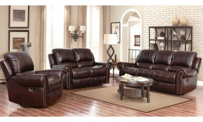 Shop Abson Broadway Top Grain Leather Reclining 3 Piece Living for Living Room Set