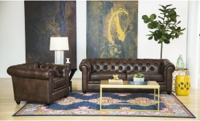 Shop Abson Tuscan Top Grain Leather Chesterfield 2 Piece Living for 12 Smart Initiatives of How to Upgrade New Living Room Sets