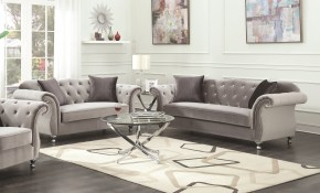 Shop Frostine Grey 2 Piece Living Room Set Sofa And Loveseat On throughout 13 Genius Ways How to Make Two Piece Living Room Set