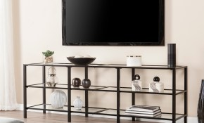 Shop Harper Blvd Tannehill Black Metal And Glass Tv Stand Free regarding 13 Clever Ideas How to Improve Living Room Sets With Free TV