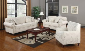 Shop Norah Traditional White 3 Piece Living Room Set Free Shipping intended for 13 Some of the Coolest Ways How to Make White Living Room Sets