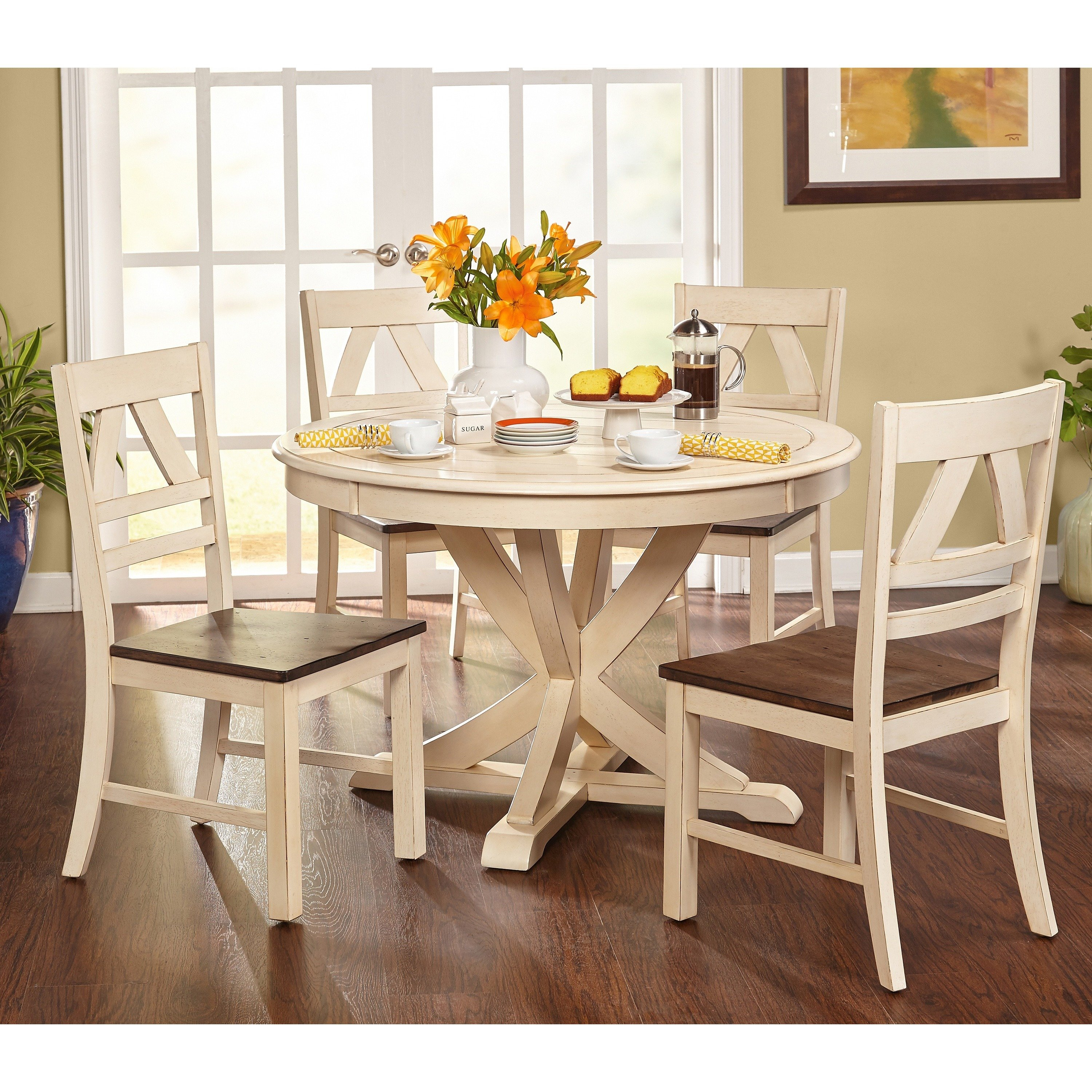 Shop Simple Living Vintner Country Style Dining Set Free Shipping throughout 13 Smart Ideas How to Make Country Style Living Room Sets