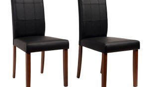 Shop Yvonne Espresso Living Room Dining Chairs Set Of 2 On Sale in Living Room Chairs Set Of 2