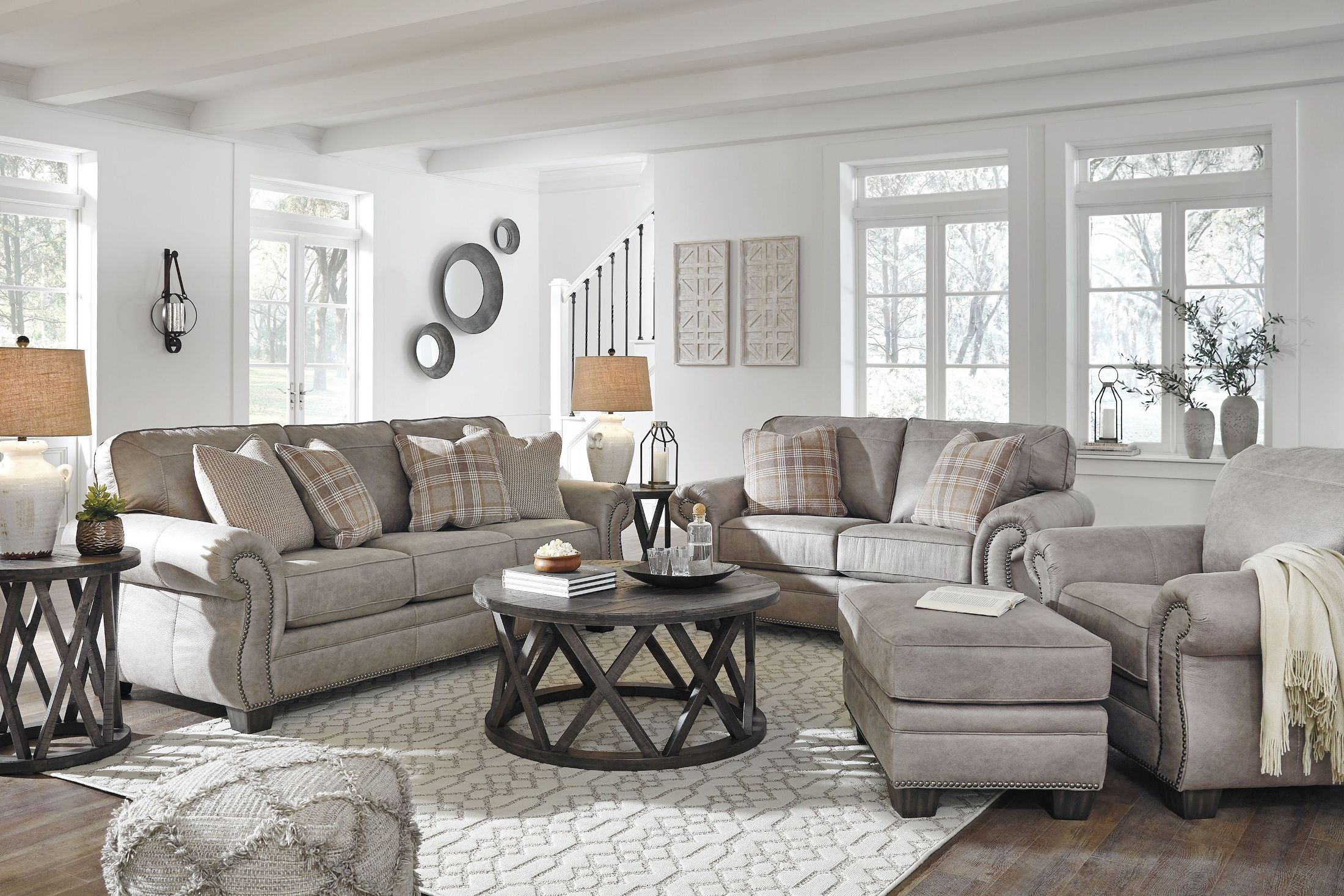 Signature Design Ashley Olsberg Steel Living Room Set Olsberg pertaining to 15 Awesome Designs of How to Makeover Free Living Room Set