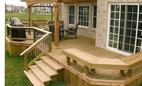 Simple Deck Ideas Air Home Products Timeless Popular Deck Design pertaining to Backyard Decking Ideas