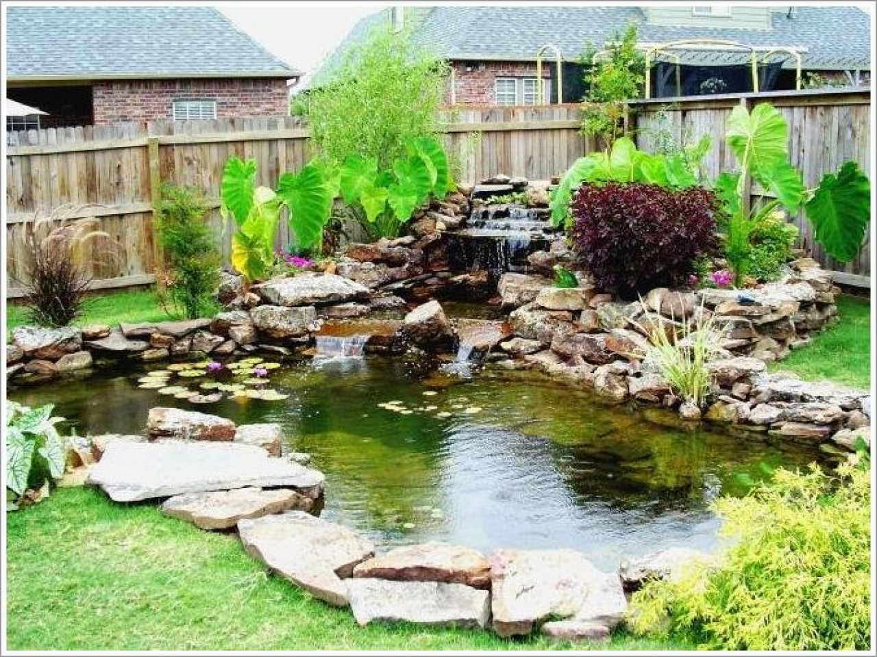 Small Backyard Fish Pond Ideas Pond Garden Pond Exteriorsfish within Backyard Pond Ideas Small
