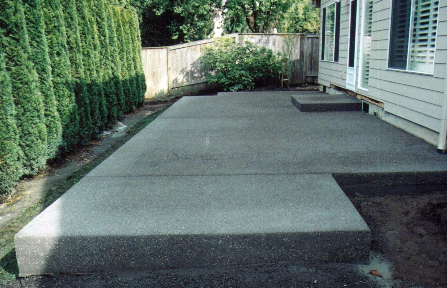 Small Cement Patio Ideas Patio Ideas regarding Small Concrete Backyard Ideas