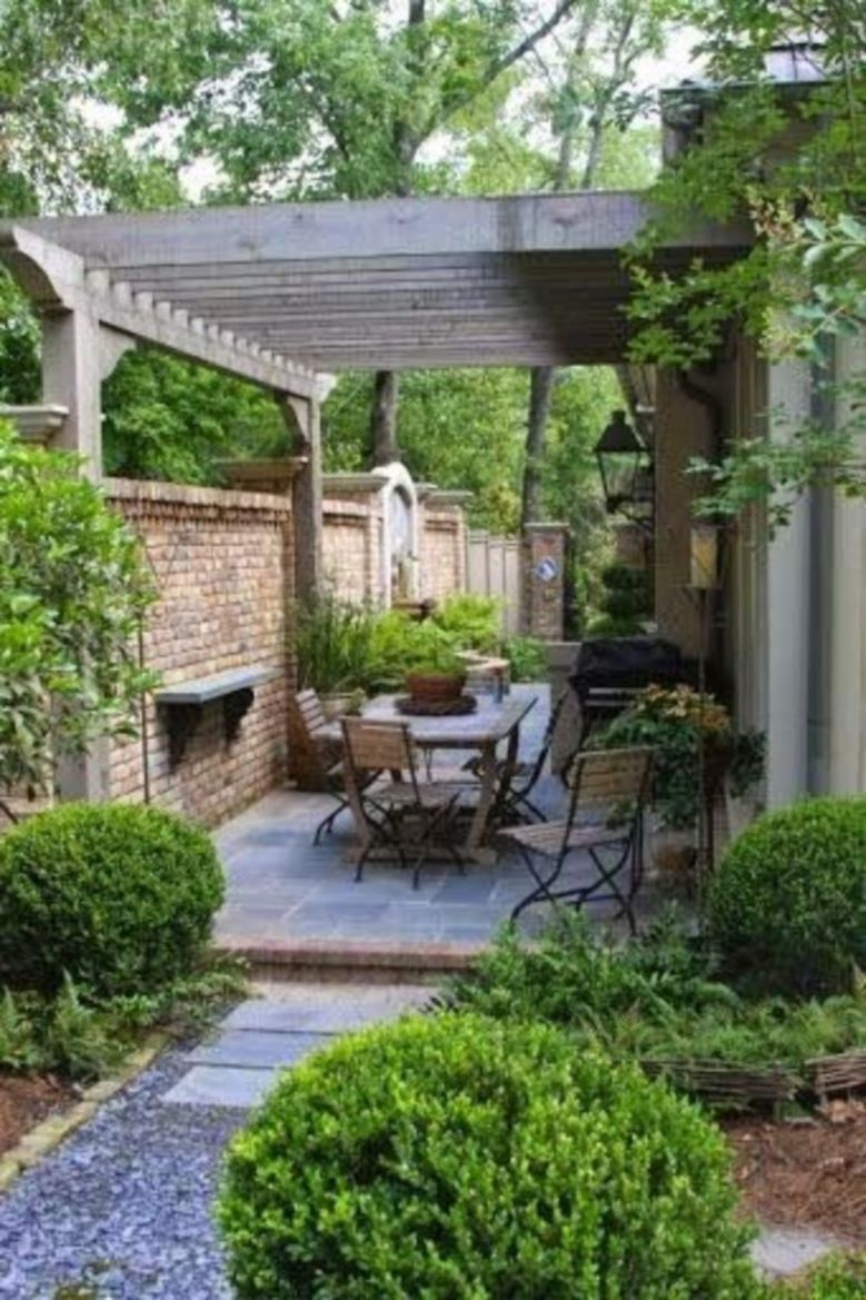 Small Patio On Backyard Ideas 09 Photo Pinterest Small intended for 15 Awesome Initiatives of How to Build Courtyard Backyard Ideas