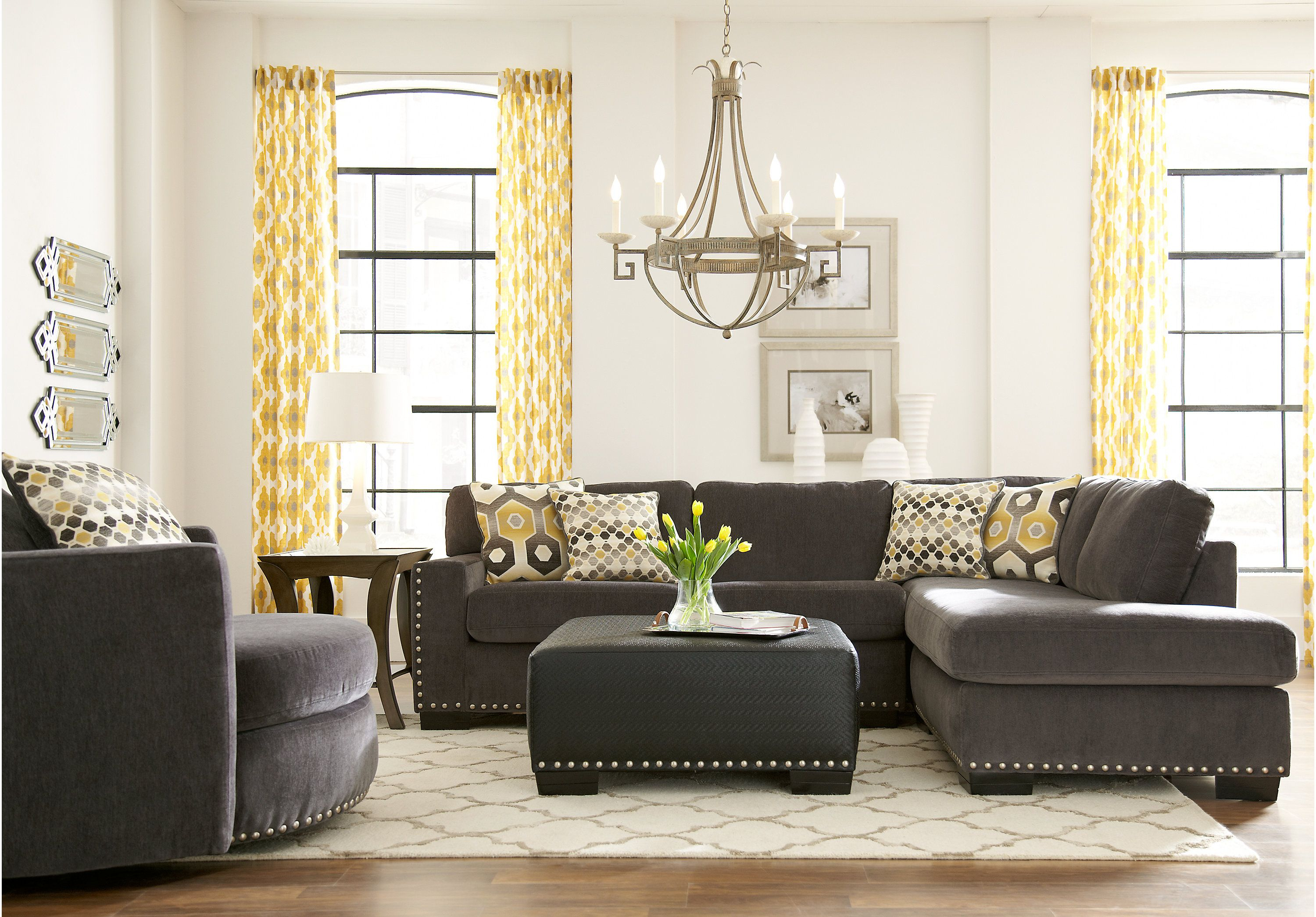 Sofia Vergara Laguna Beach Gray 2 Pc Sectional My House Is Gonna pertaining to Sofia Vergara Living Room Set