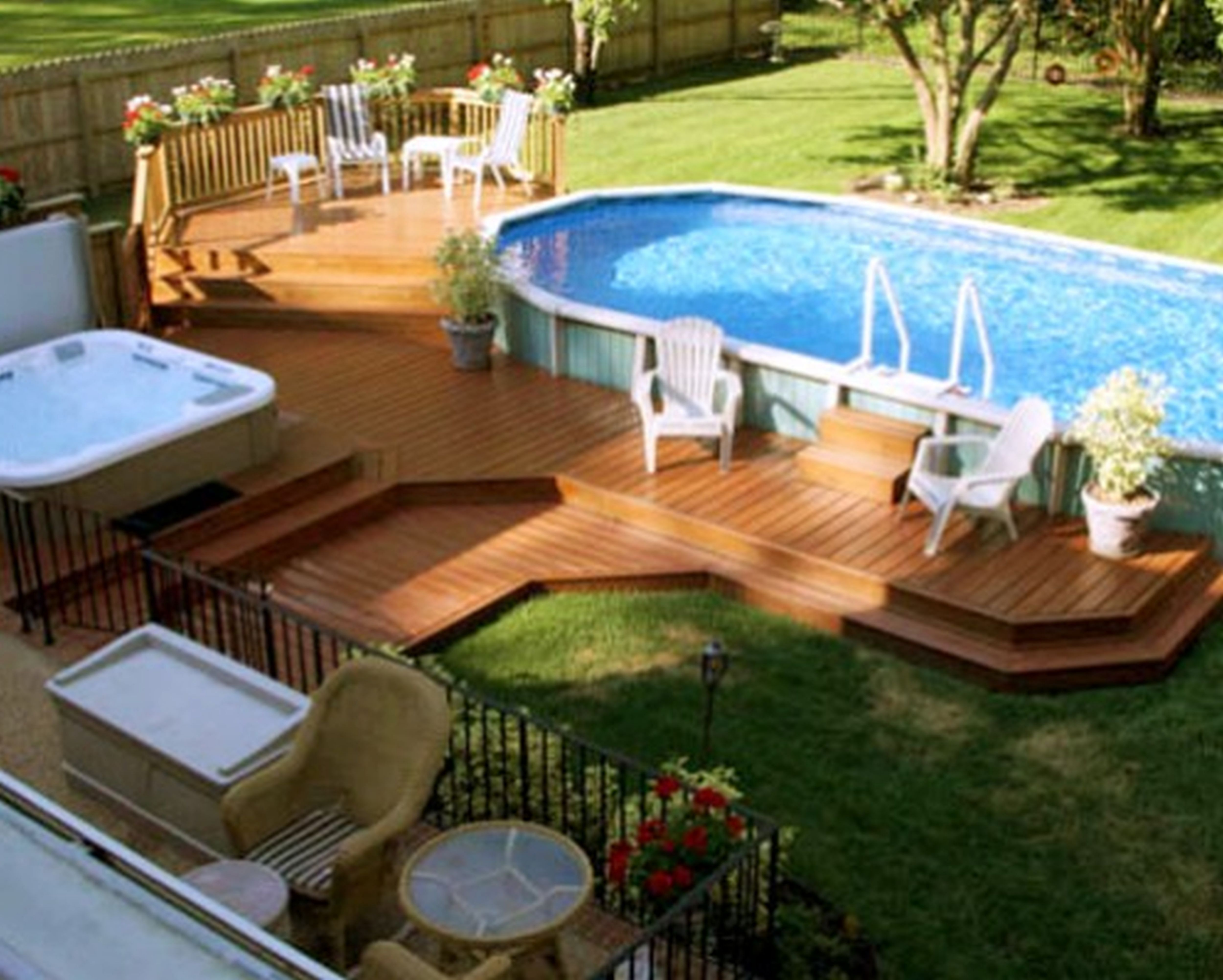 Stunning 10 Above Ground Pool Landscape Ideas For Your Backyard regarding 10 Awesome Ideas How to Make Above Ground Pool Backyard Landscaping Ideas
