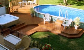 Stunning 10 Above Ground Pool Landscape Ideas For Your Backyard regarding Above Ground Pool Ideas Backyard