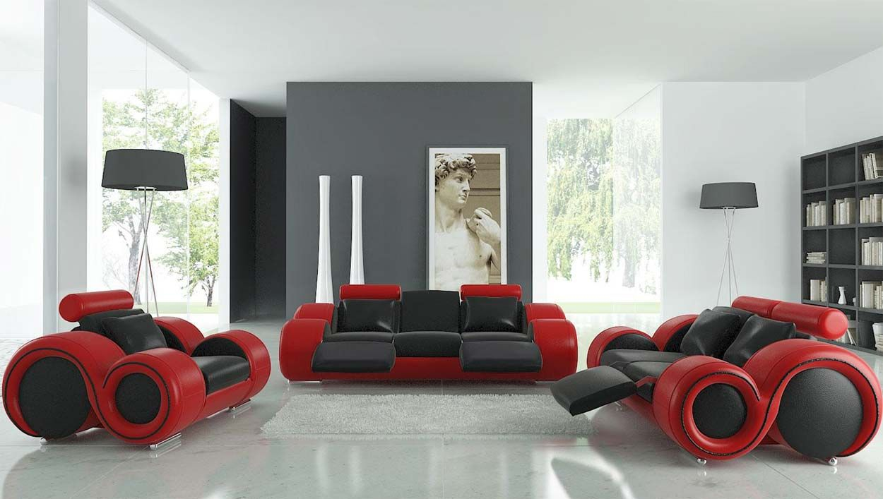 Stylish Red Leather Couches Sofa Couch Designs Tys Man Cave in 15 Genius Concepts of How to Upgrade Red Black And White Living Room Set