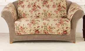 Sure Fit Lexington Floral Sofa Slipcover Products Loveseat in Living Room Set Covers