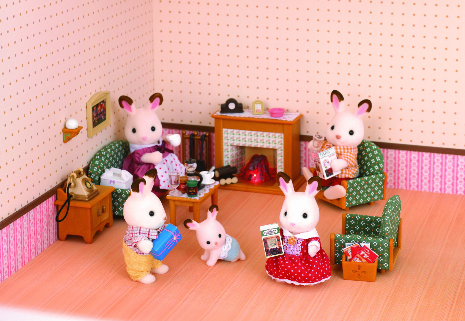 Sylvanian Families Luxury Living Room Set Store Petit Inspiring within Sylvanian Families Cosy Living Room Set