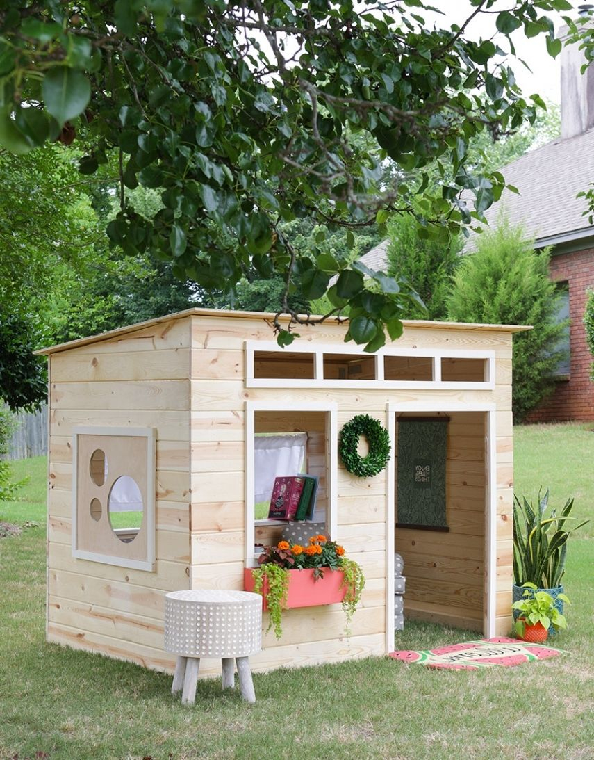 The Best Cool Child Playhouse Design With Polyhedron Shape And More regarding Backyard Playhouse Ideas