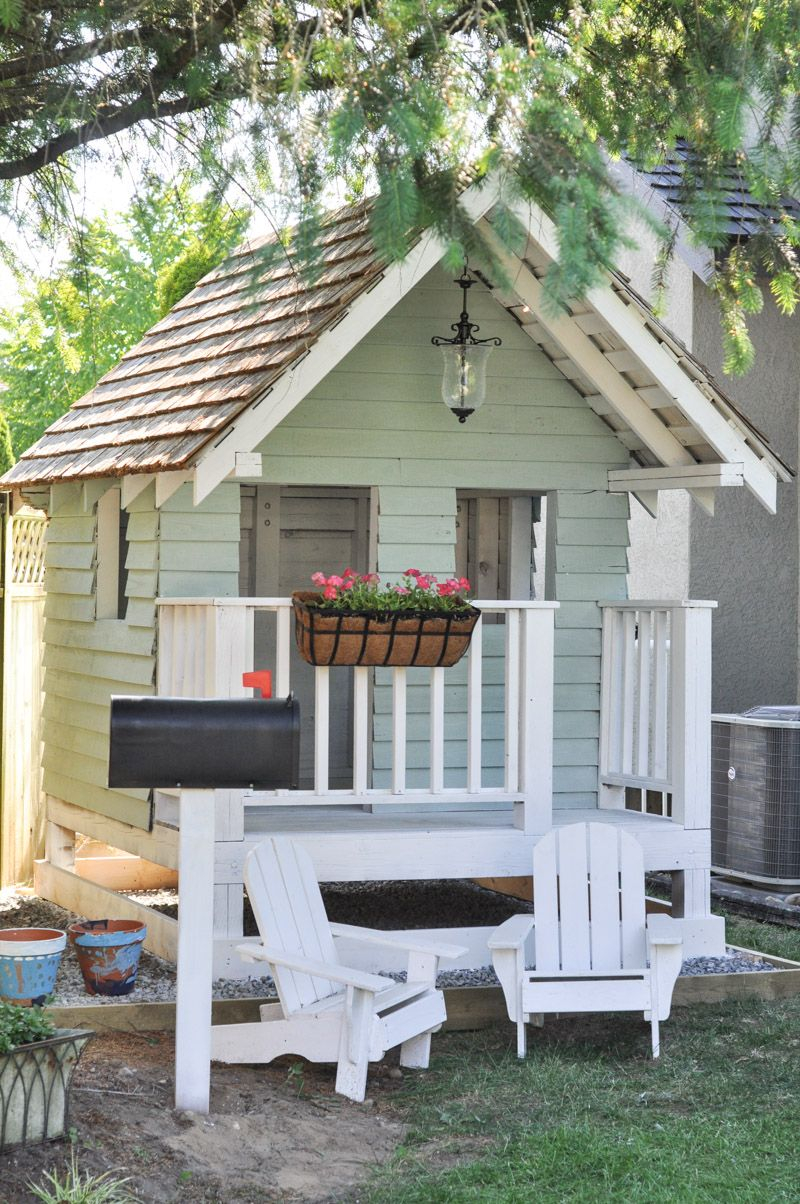 The Playhouse Project Part Deux Outdoor Accessories Hometalk pertaining to Backyard Playhouse Ideas