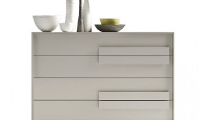 Trend Chest Of 4 Drawers With Decorative Handles Siluetto House within Modern Bedroom Chest Of Drawers