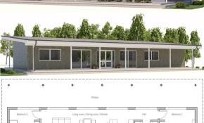 Two Bedroom House Plan Architectural Prints House Plans Metal throughout 12 Some of the Coolest Tricks of How to Craft Modern Two Bedroom House Plans