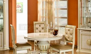 Versace Style Caesar Rossella Italian Dining Set Round Beige with 13 Smart Ways How to Craft Versace Living Room Set