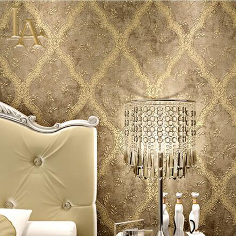 Vintage European Luxury Wall Decor Modern Wallpaper 3d Simple in Modern Wallpaper For Bedroom