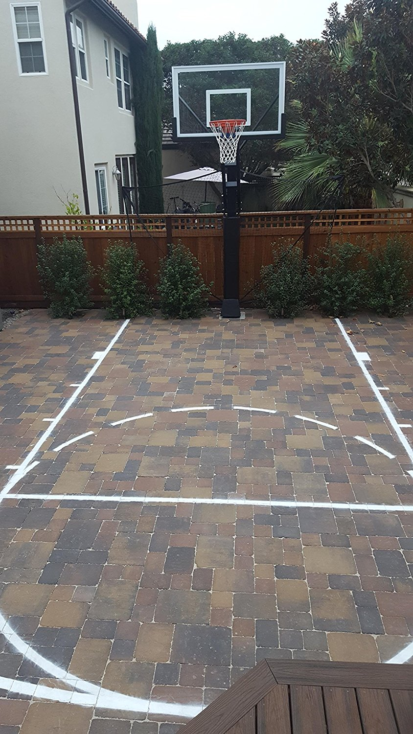What To Buy To Make Your Own Basketball Court With Stencils Layouts regarding 12 Smart Designs of How to Improve Backyard Basketball Court Ideas