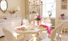 White French Style Chairs And Painted Oval Table In White Gustavian within 12 Awesome Ways How to Make French Style Living Room Set