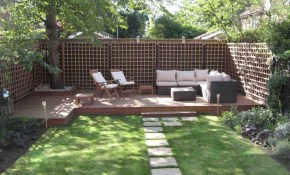 Wooden Patio Deck Ideas For Backyard With Outdoor Sofa Furniture intended for Small Deck Ideas For Small Backyards