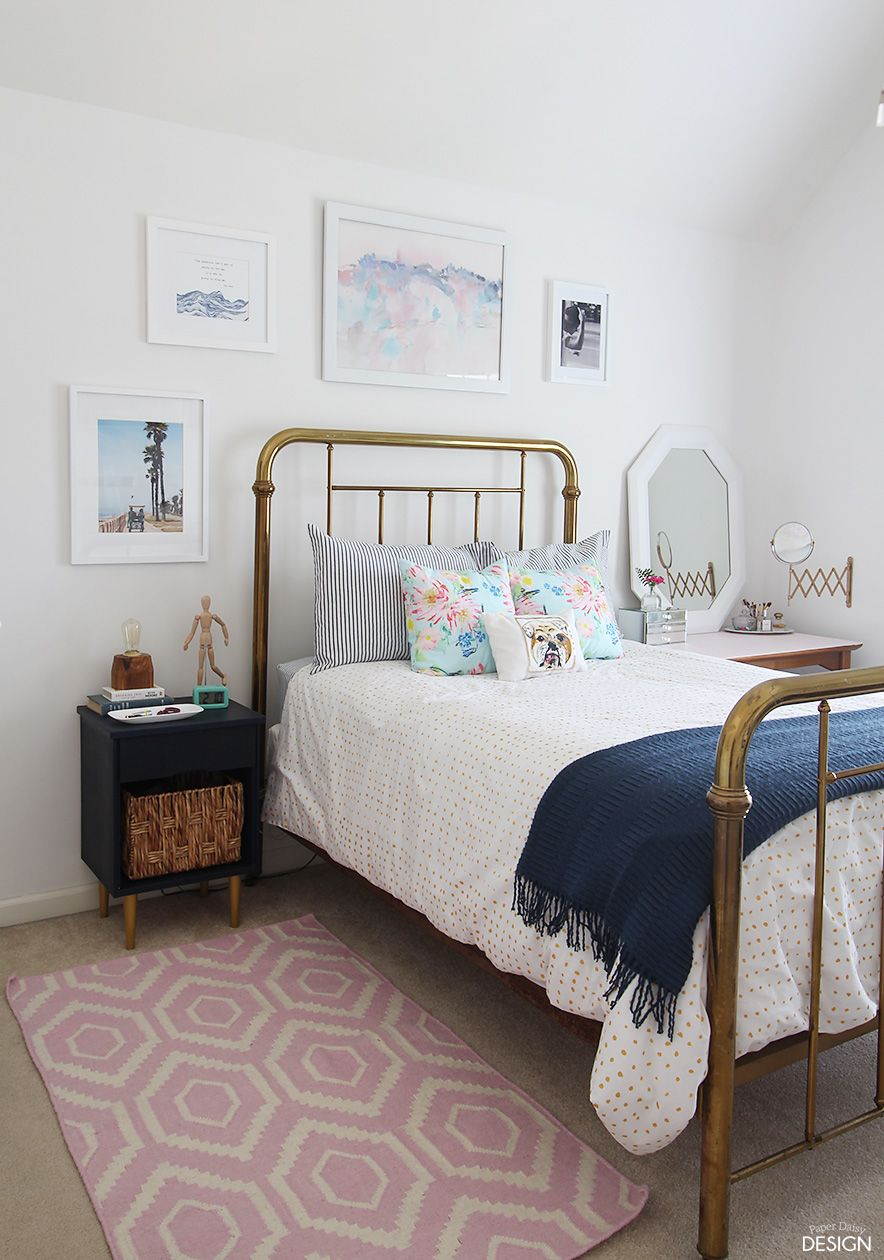 Young Modern Vintage Bedroom Humble Abode Teen Bedroom Designs intended for Modern Teen Bedrooms