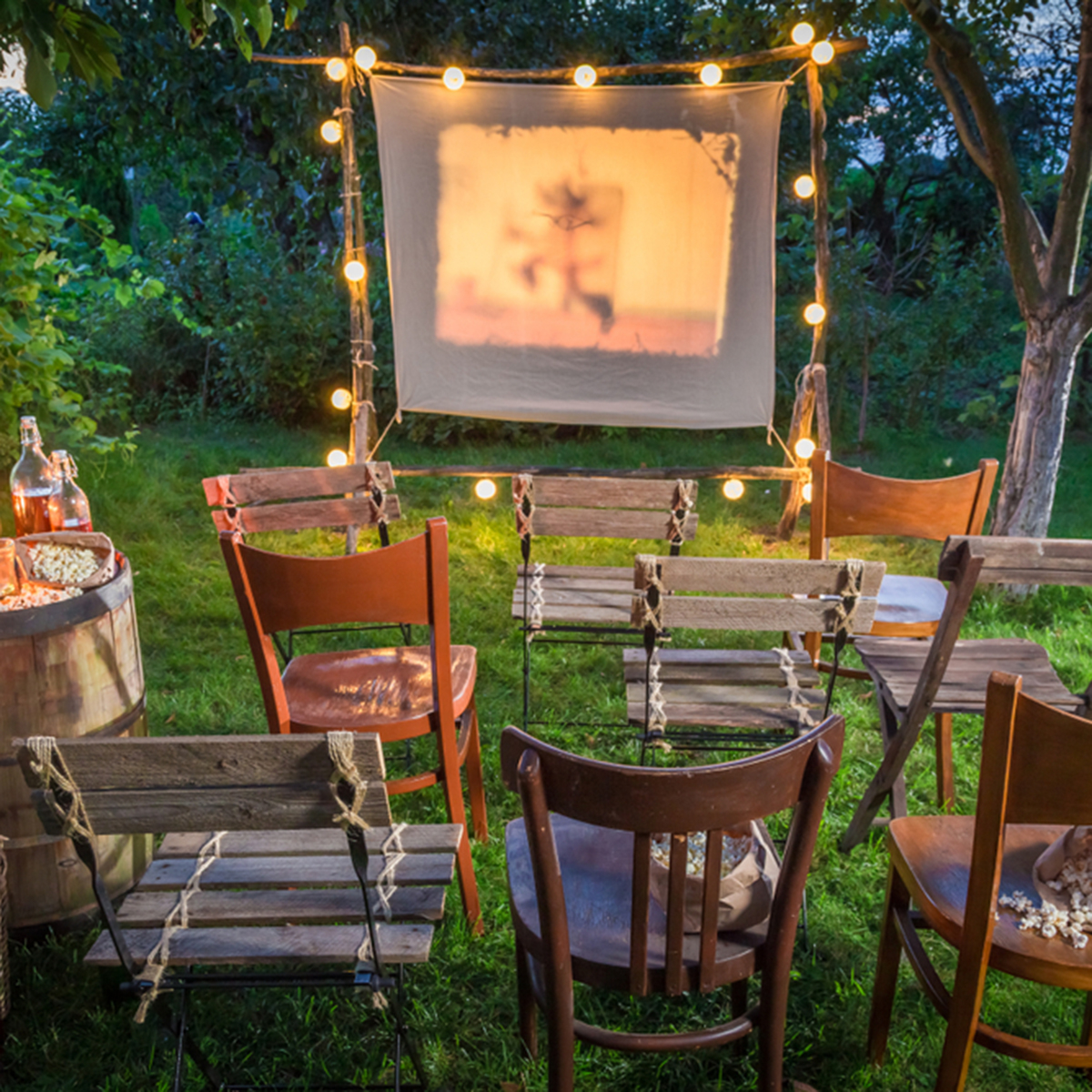 10 Fun Ideas For Outdoor Movie Night Taste Of Home within 14 Clever Ideas How to Make Backyard Theater Ideas