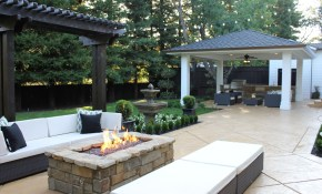 15 Stone Fire Pits To Spark Ideas pertaining to Backyard Patio Ideas With Fire Pit