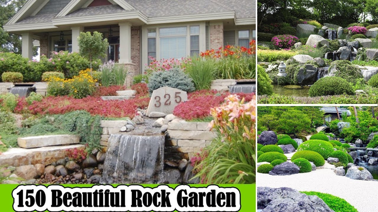 150 Beautiful Rock Garden Ideas For Landscaping Backyard Youtube throughout 13 Clever Ways How to Craft Backyard Landscaping Ideas With Rocks