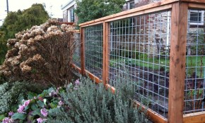 17 Awesome Hog Wire Fence Design Ideas For Your Backyard Garden with Backyard Garden Fence