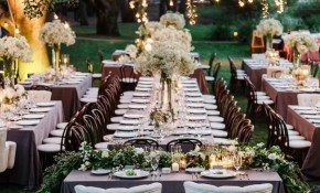20 Drop Dead Gorgeous Wedding Receptions Floral Table Runners for Backyard Wedding Reception Decoration Ideas