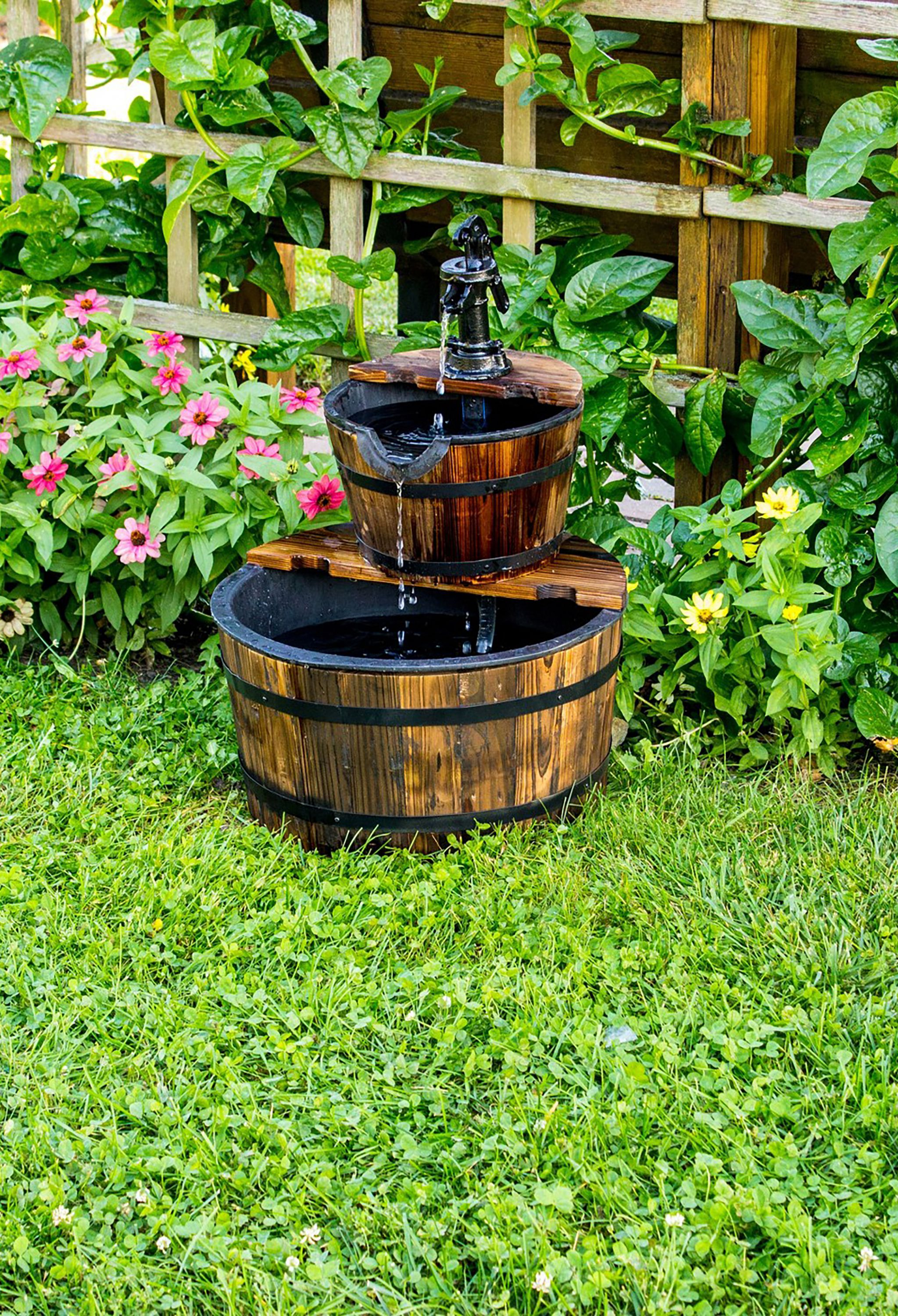 22 Outdoor Fountain Ideas How To Make A Garden Fountain For Your throughout Backyard Water Feature Ideas