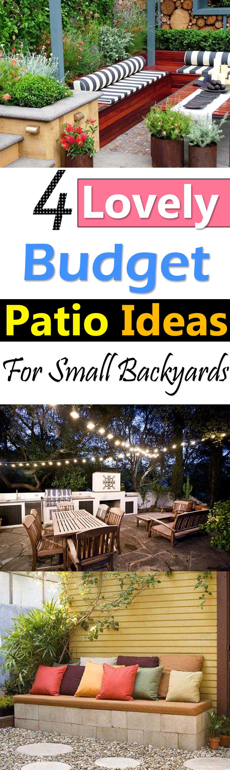 4 Lovely Budget Patio Ideas For Small Backyards Balcony Garden Web regarding 14 Smart Concepts of How to Makeover Ideas For Small Backyard Spaces