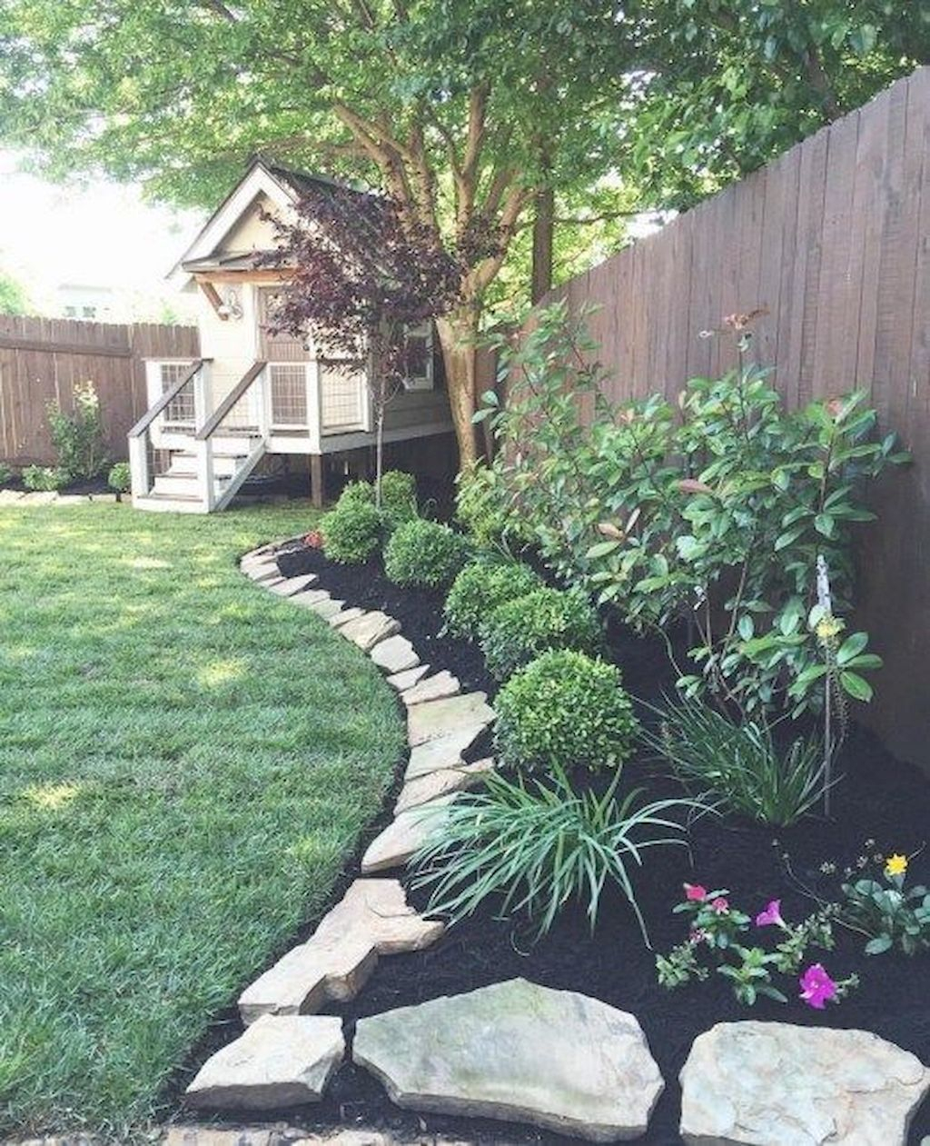 75 Awesome Front Yard Rock Garden Landscaping Ideas Outdoors with Backyard Landscaping Ideas With Rocks