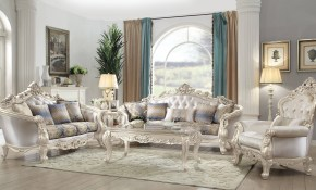Acme Furniture Gorsedd Cream 3pc Living Room Set The Classy Home with Cream Living Room Set
