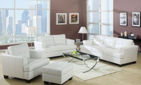Acme Platinum White Bonded Leather Living Room Set Platinum pertaining to 15 Awesome Concepts of How to Improve White Leather Living Room Set