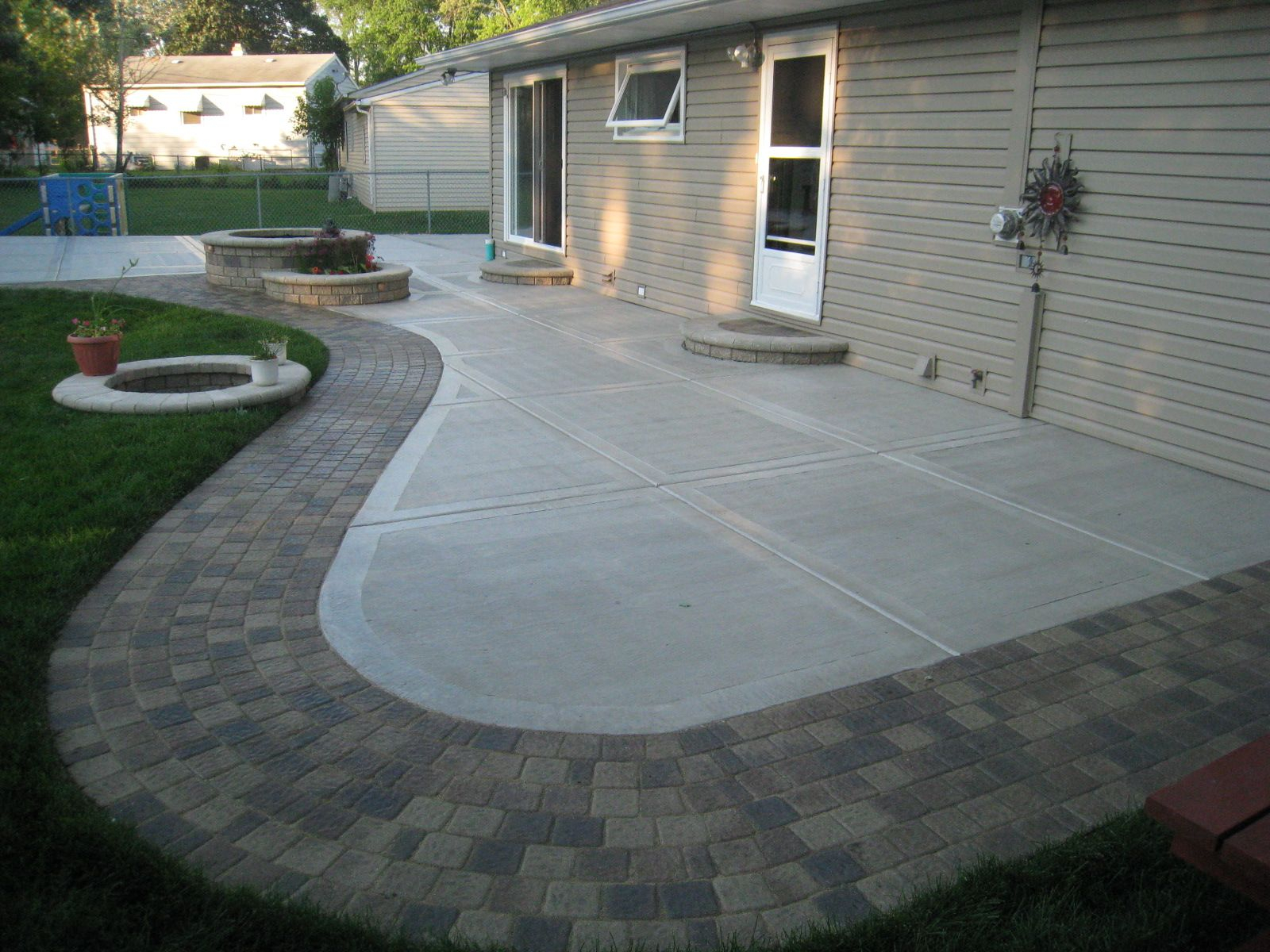 Back Yard Concrete Patio Ideas Concrete Patio California Finish throughout 15 Smart Concepts of How to Upgrade Concrete Patio Ideas Backyard