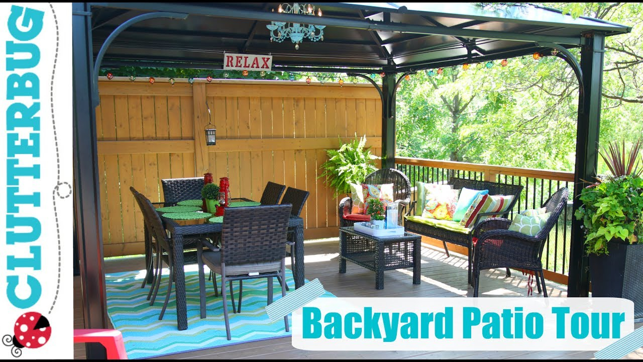 Backyard Patio Decorating Ideas Tips And Tour Youtube within 11 Some of the Coolest Ways How to Makeover Decorating Backyard